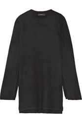 Ellery Soliloquy Oversized Merino Wool Tunic Black