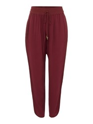 Biba Textured Luxe Loose Trousers Berry