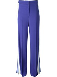Msgm Panelled Wide Trousers Blue