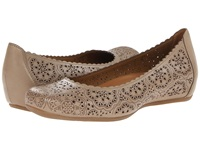 Bindi Earthies Biscuit Full Grain Leather Women's Flat Shoes Pewter