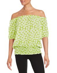 Michael Michael Kors Plus Alicante Off The Shoulder Top Green