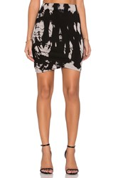 Gypsy 05 Shirred Mini Skirt Black