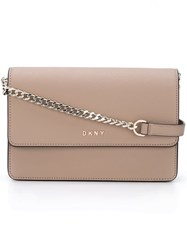 Dkny Chain Strap Shoulder Bag Nude And Neutrals