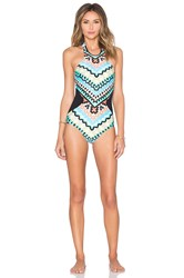 Seafolly Kasbah High Neck Swimsuit Green