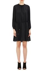 Barneys New York Belted Silk Dress Black
