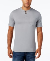 Tasso Elba Men's Henley Only At Macy's Shade Grey