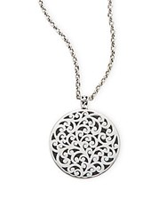 Lois Hill Sterling Silver Open Filigree Pendant Necklace
