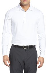 Bobby Jones Men's 'Liquid Cotton' Long Sleeve Jersey Polo White
