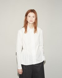 Julien David Crisp Poplin Shirt White