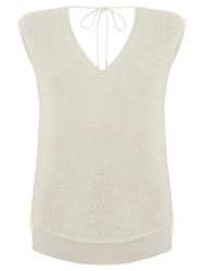 Mint Velvet Sleeveless Shell Top Ivory
