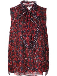 Diane Von Furstenberg Printed Tank Top Red