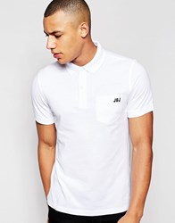 Jack And Jones Jack And Jones Pique Polo Shirt With Pocket White