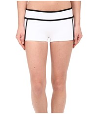 Michael Michael Kors Color Blocked Scuba Hipster Bottom White Women's Swimwear