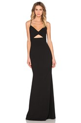 Mason By Michelle Mason Bustier Gown Black