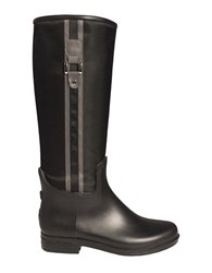 Dav Fairfield Nylon Knee High Boots Black