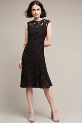 Anthropologie Annella Trumpet Dress Black