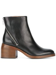 Paul Smith Ps By Zipped Detailing Ankle Boots Black
