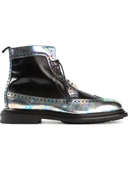 Pollini Metallic Panel Boots Black