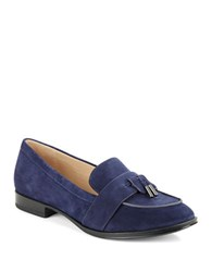 Via Spiga Amica Suede Loafers Navy