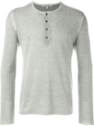 John Varvatos Button Down Rib Detail Jumper Nude And Neutrals