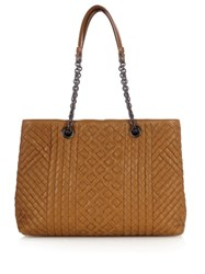 Bottega Veneta Intrecciato Leather Tote Bag Camel