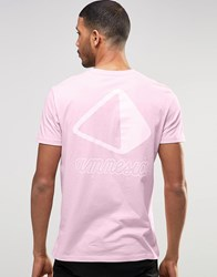Asos Amnesia Ibiza T Shirt In Relaxed Fit Prism Pink
