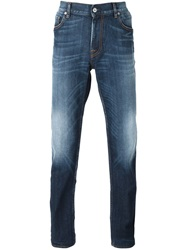 Stone Island Stone Washed Straight Leg Jeans Blue