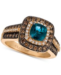 Le Vian Chocolatier London Blue Topaz 1 Ct. T.W. And Diamond 3 4 Ct. T.W. Ring In 14K Rose Gold