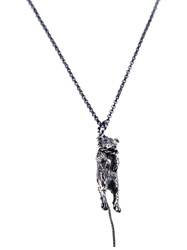Momocreatura Hanged Mouse Necklace Metallic