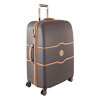 Delsey Chatelet Hard 4 Wheel Trolley Case Chocolate