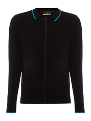 Duck And Cover Candidate Zip Thru Knit Black