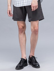 Maiden Noir Elastic Wool Shorts