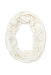 Forever 21 Floral Infinity Scarf Cream
