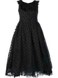 Marc Jacobs Polka Dot Organza Dress Black