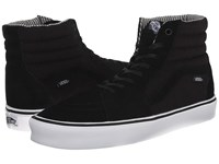 Vans Sk8 Hi Lite Hemp Black White Pig Suede Hemp Men's Skate Shoes