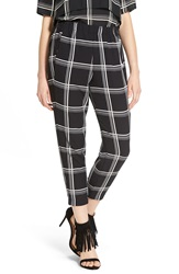 Wayf Crop Check Trousers Black