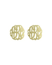 Initial Reaction Golden Monogram Script Post Earring