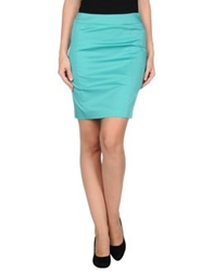 Nuvola Knee Length Skirts Turquoise