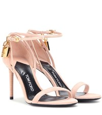 Tom Ford Embellished Suede Sandals Pink
