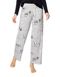 Hue Words With Penguins Pajama Pants Grey