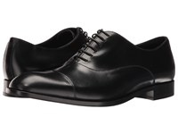 Emporio Armani Cap Toe Oxford Black Men's Lace Up Casual Shoes