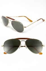 Randolph Engineering 'Sportsman' 57Mm Sunglasses Gold Agx