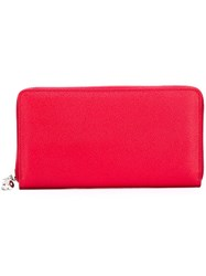 Alexander Mcqueen Zip Around Wallet Red