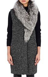 Theory Fur Trimmed Droneta Vest Colorless