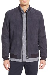 Men's Ted Baker London 'Vipers' Suede Bomber Jacket Navy