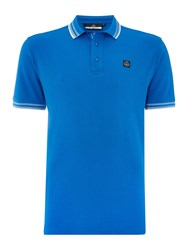 Duck And Cover Vertex Polo Shirt Sapphire