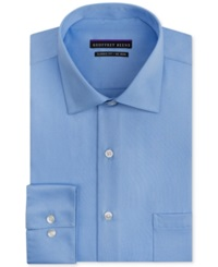 Geoffrey Beene Non Iron Sateen Solid Dress Shirt Light Blue