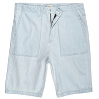 River Island Mens Light Blue Wash Slim Fit Denim Worker Shorts