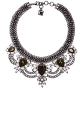 Bcbgmaxazria Teardrop Stone Statement Necklace Black