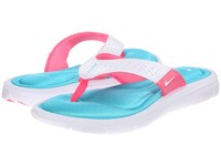 Nike Comfort Thong White Turquoise Pink Flash Women's Sandals